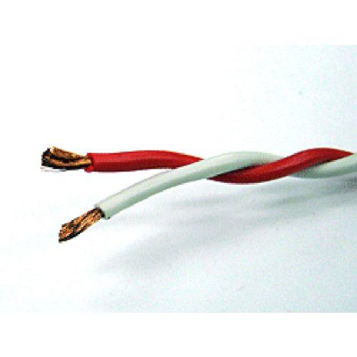 RSCB 0.75sq ツイスト線(赤×白) 1巻100m ボビン巻
