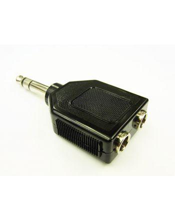 2分配アダプター 6.3mmステレオ 6.3ST-PJJ