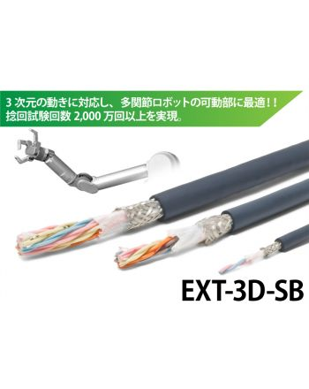 捻りに強い!シールド付きロボットケーブル EXT-3D-SB/CL3X/2517 300V LF AWG24