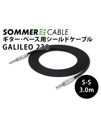 Galileo238  S-S 3.0m ギター&ベース用シールドケーブル  フォンプラグ付き