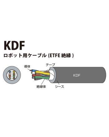 KDF 0.3sq(AWG23) 超耐久型ロボット用ケーブル(ETFE絶縁)