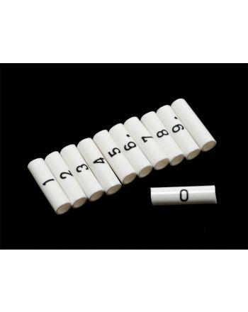 マーカーチューブカット品 番号入り 1.25sq(内径3.2φ)用 1袋100個入