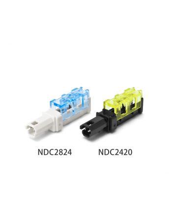 電線被覆むき不要!圧接形中継コネクター 「NDC2420」「NDC2824」