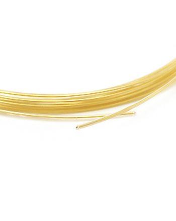 金メッキOFC単線 0.9mm フッ素樹脂(PFA)被覆