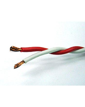 RSCB 1.25sq ツイスト線(赤×白) 1巻100m ボビン巻