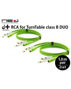 d+RCA for TurnTable classB DUO ターンテーブル専用RCAケーブル(1mペア×2セット)